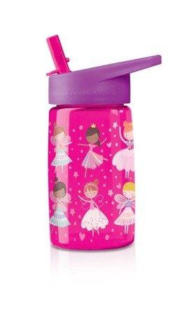 Butelka z rurką, motyw różowe cuda
