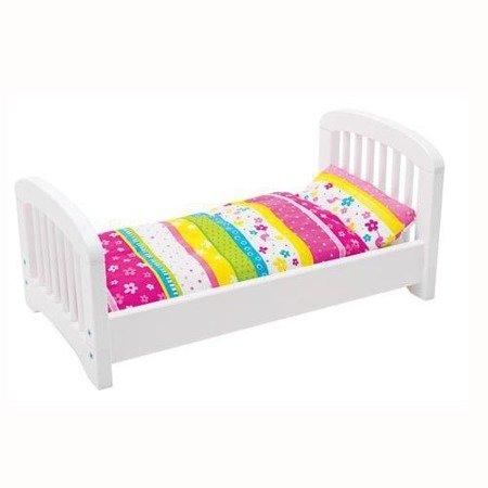 Drewniane łóżeczko z pościelą, Goki 51596