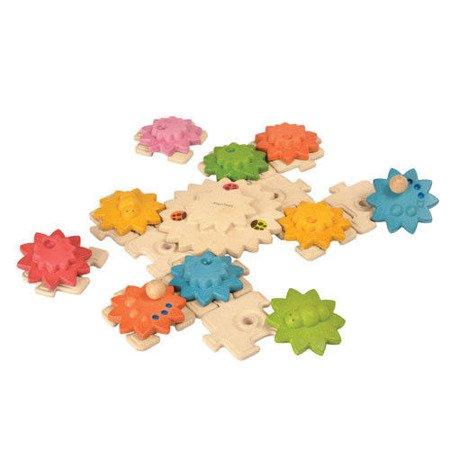 Drewniane puzzle, koła zębate Deluxe, Plan Toys®