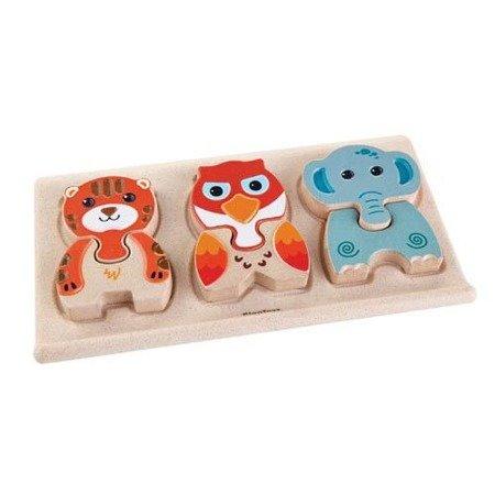 Drewniane puzzle zwierzątka, Plan Toys®