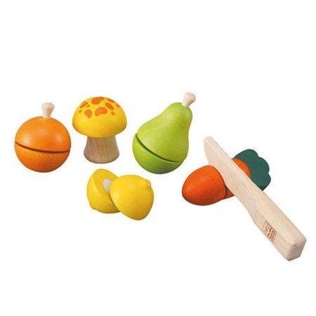 Drewniane warzywa i owoce do krojenia, Plan Toys®