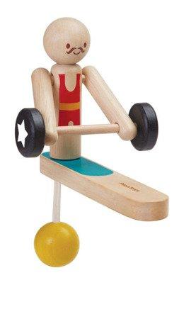 Drewniany akrobata - podnoszenie ciężarów, PLTO