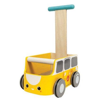 Drewniany chodzik żółty van - walker, Plan Toys®