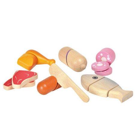 Drewniany zestaw Mięso do krojenia, Plan Toys PLTO-3457