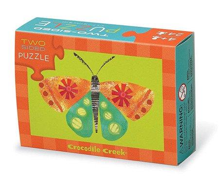 Dwustronne puzzle, motyw motyl, Crocodile Creek