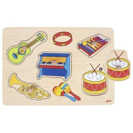 Dźwiękowa układanka z uchwytami - instrumenty muzyczne, Goki