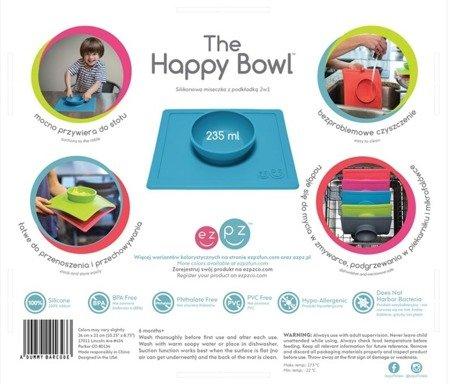 EZPZ Silikonowa miseczka z podkładką 2w1 Happy Bowl niebieska