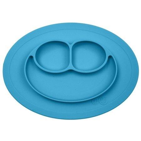 EZPZ Silikonowy talerzyk z podkładką mały 2w1 Mini Mat niebieski