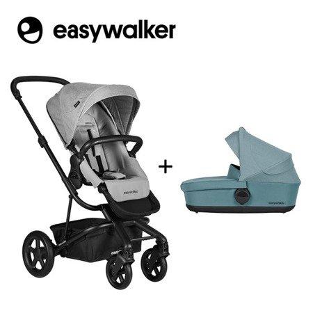 Easywalker Harvey2 Wózek głęboko-spacerowy Stone Grey (zawiera stelaż, siedzisko z budką i pałąkiem)
