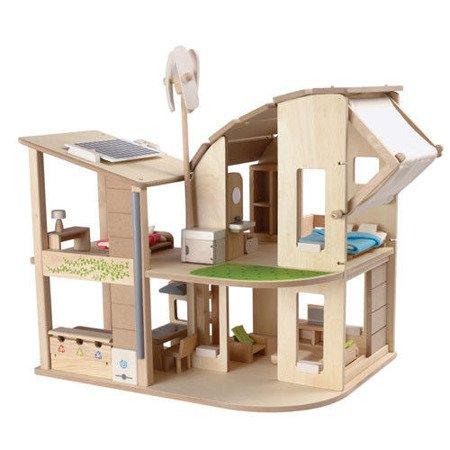 Ekologiczny domek dla lalek z mebelkami, Plan Toys PLTO-7156