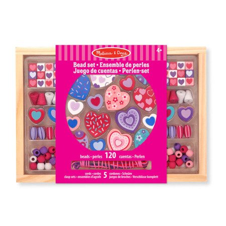 Klocki do nawlekania Sweet Hearts,  MD14175