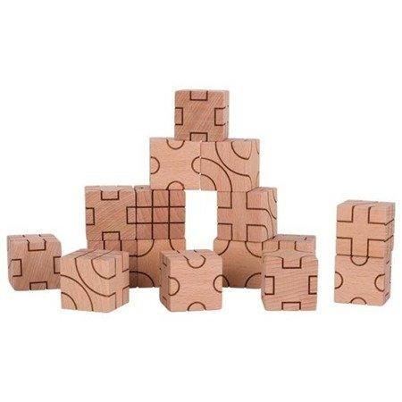 Klocki sześcienne geometryczne naturalne Goki