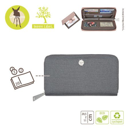 """Lassig Green Label Portfel z Etui na Karty Mix'n Match Anthracite"