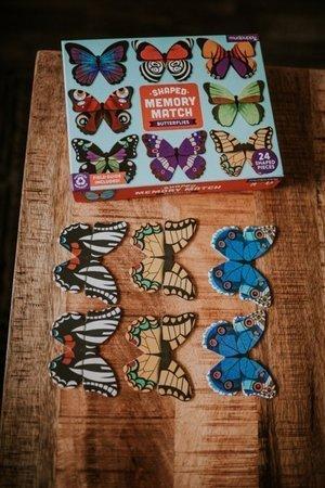 Mudpuppy Gra Memory Motyle z elementami w kształcie motyli 24 elementy 3-8 lat