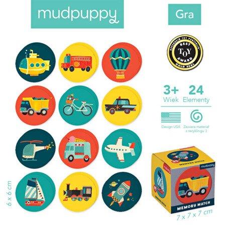 Mudpuppy Gra Mini Memory Środki transportu