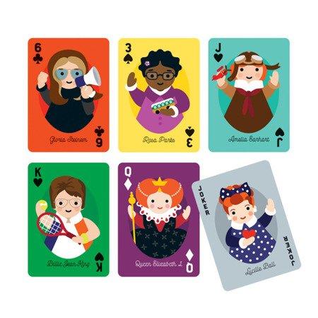 Mudpuppy Karty do gry Niezwykłe kobiety 4 +