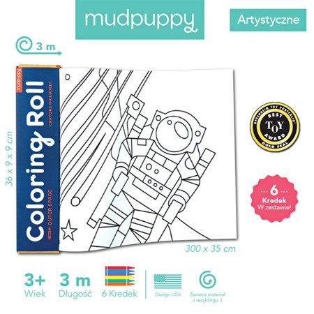 Mudpuppy Kolorowanka w rolce 3m z 6 kredkami Kosmos