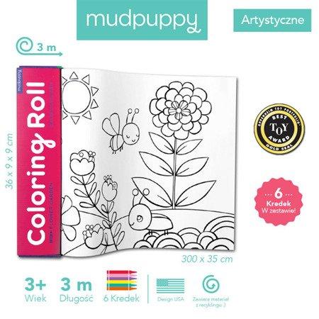 Mudpuppy Kolorowanka w rolce 3m z 6 kredkami Ogród