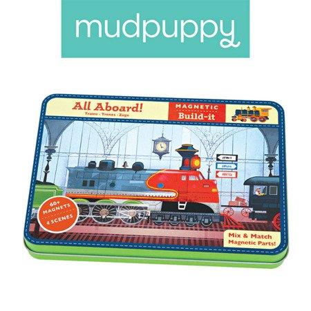 Mudpuppy Magnetyczne konstrukcje Pociągi 6+