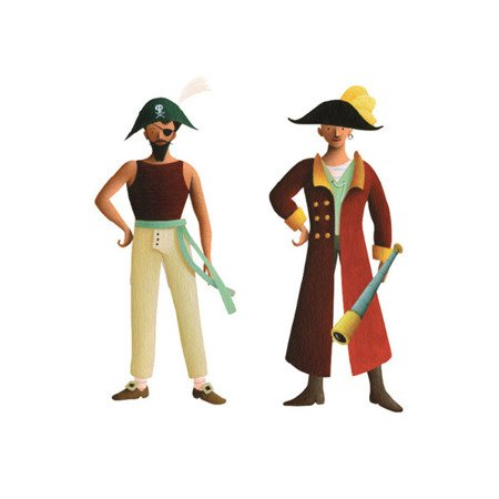 Mudpuppy Magnetyczne postacie Piraci 6+