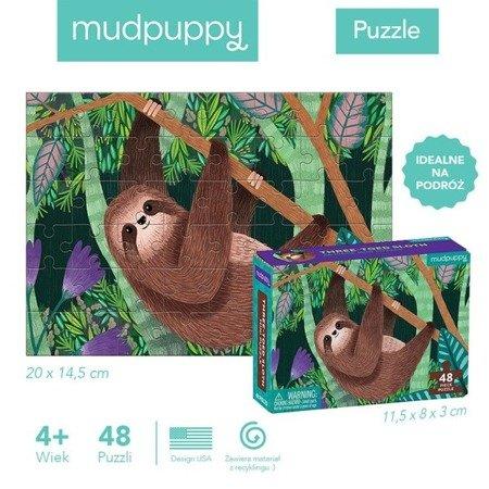 Mudpuppy Puzzle mini Leniwiec trójpalczasty 48 elementów 4+
