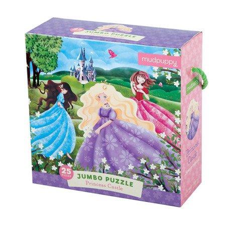 Mudpuppy Puzzle podłogowe Jumbo Zamek księżniczki 25 elementów 2+