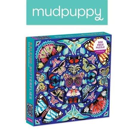 Mudpuppy Puzzle rodzinne Kalejdoskop z motylami 500 elementów 8+
