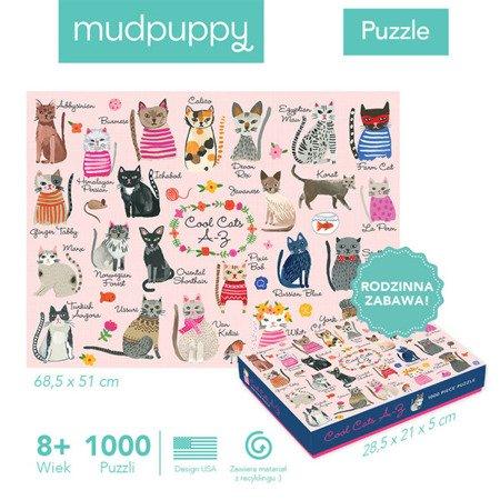 Mudpuppy Puzzle rodzinne Koty 1000 elementów 8+