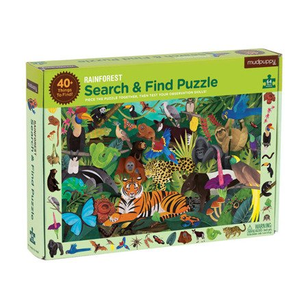 Mudpuppy Puzzle szukaj i znajdź Las tropikalny 64 elementy 4+