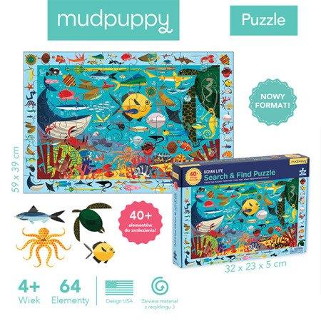 Mudpuppy Puzzle szukaj i znajdź Życie oceanu  64 elementy 4+