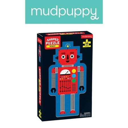 Mudpuppy Puzzle w kształcie postaci Robot 50 elementów 4+