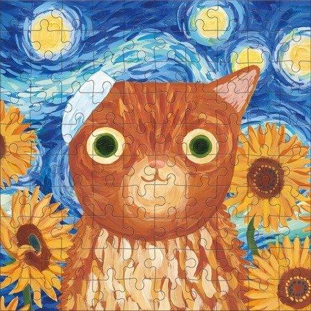 Mudpuppy Puzzle w puszce Kotoartyści Vincat van Gogh 100 elementów 6+