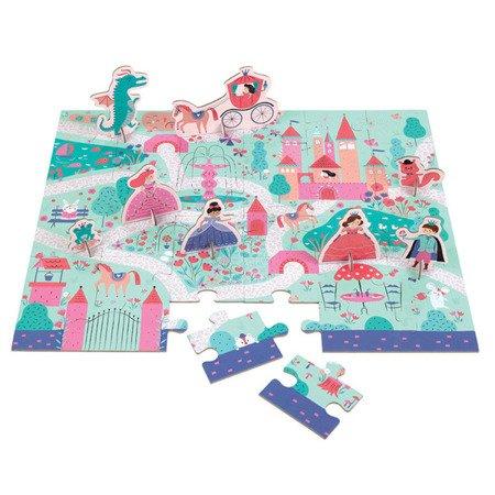 Mudpuppy Puzzle zestaw z 8 figurkami Księżniczka 3+