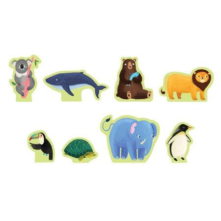 Mudpuppy Puzzle zestaw z 8 figurkami Zwierzęta Świata 3+