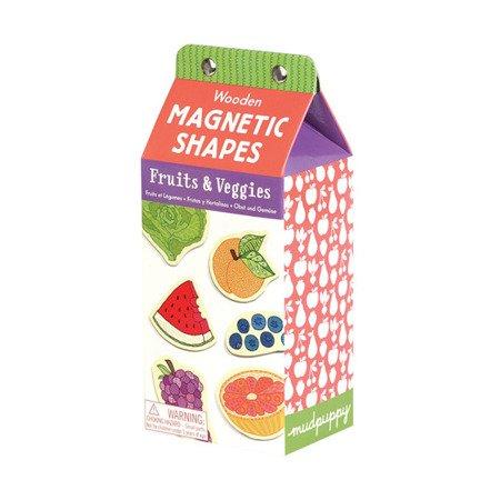 Mudpuppy Zestaw drewnianych magnesów Owoce i warzywa 35 elementów