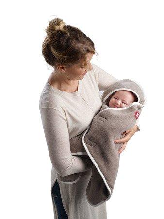 Otulacz rożek Babynomade 6-12m Double Fleece Heather beige /Ecru, Red Castle