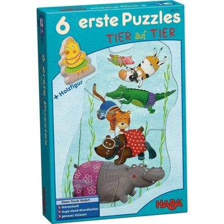 Pierwsze Puzzle - Zwierzak na zwierzaku