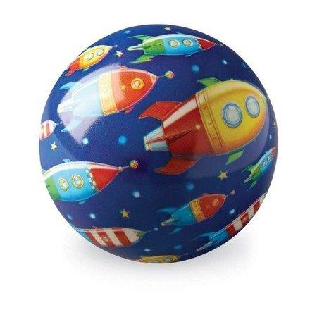 Piłka 10 cm, wzór Wyprawa kosmiczna, Crocodile C