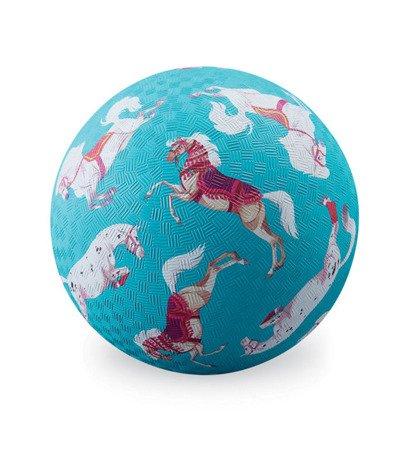 Piłka 18 cm, wzór konie