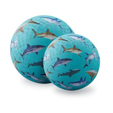 Piłka 18 cm, wzór rekiny, Crocodile Creek 2166-5
