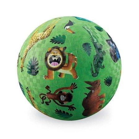 Piłka 18cm, wzór bardzo dzikie zwierzęta, Crocodille Creek