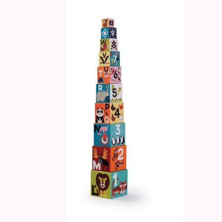 Piramida wieża z klocków cyfry litery Jungle CC