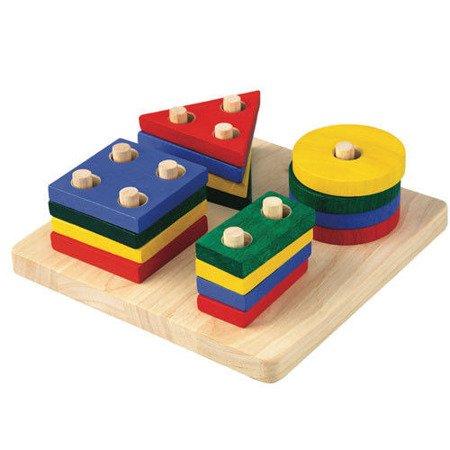 Plansza z figurami geometrycznymi, Plan Toys PLTO-2403