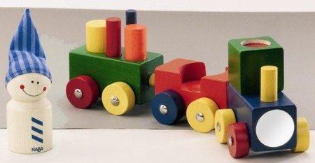 Pojazd drewniany - Pierwszy pociąg