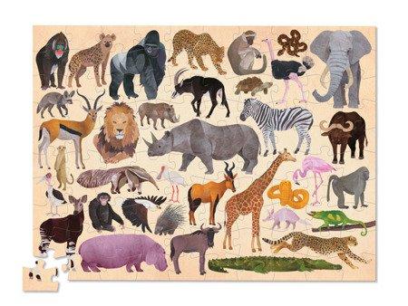 Puzzle 100el., motyw zwierzęta świata, CC