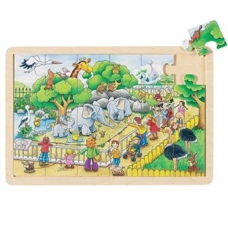 Puzzle 24 el motyw W zoo, Goki 57808