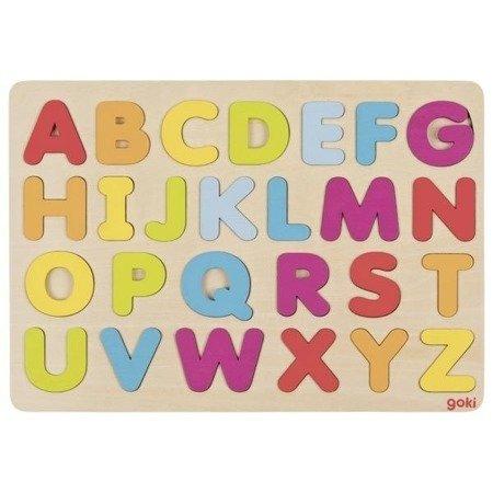 Puzzle literki - kolory pastelowe