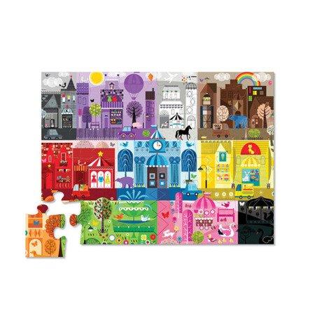 Puzzle podłogowe 24 el. Wczesna edukacja - kolory w mieście, Crocodile Creek 4185-2