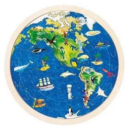 Puzzle wzór mapa Świata, Goki 57666