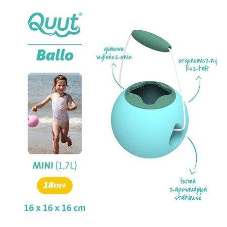 QUUT Małe wiaderko wielofunkcyjne Mini Ballo Vintage Blue + Mineral Green